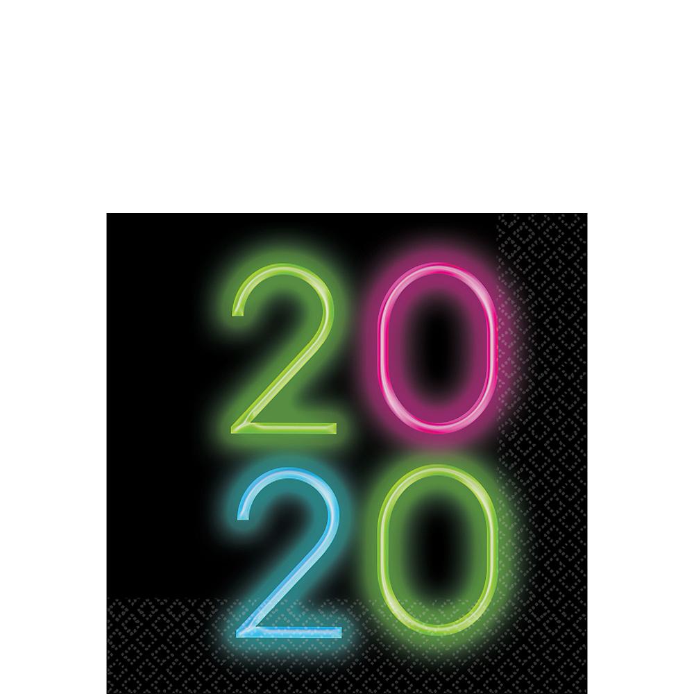 New Year's Glow 2020 Lunch Napkins 36ct Image #1