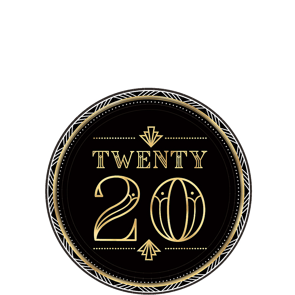 Roaring 2020 New Year's Eve Lunch Plates 8ct Image #1