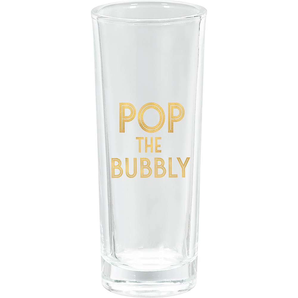 Pop the Bubbly Stemless Champagne Flutes 8ct Image #1