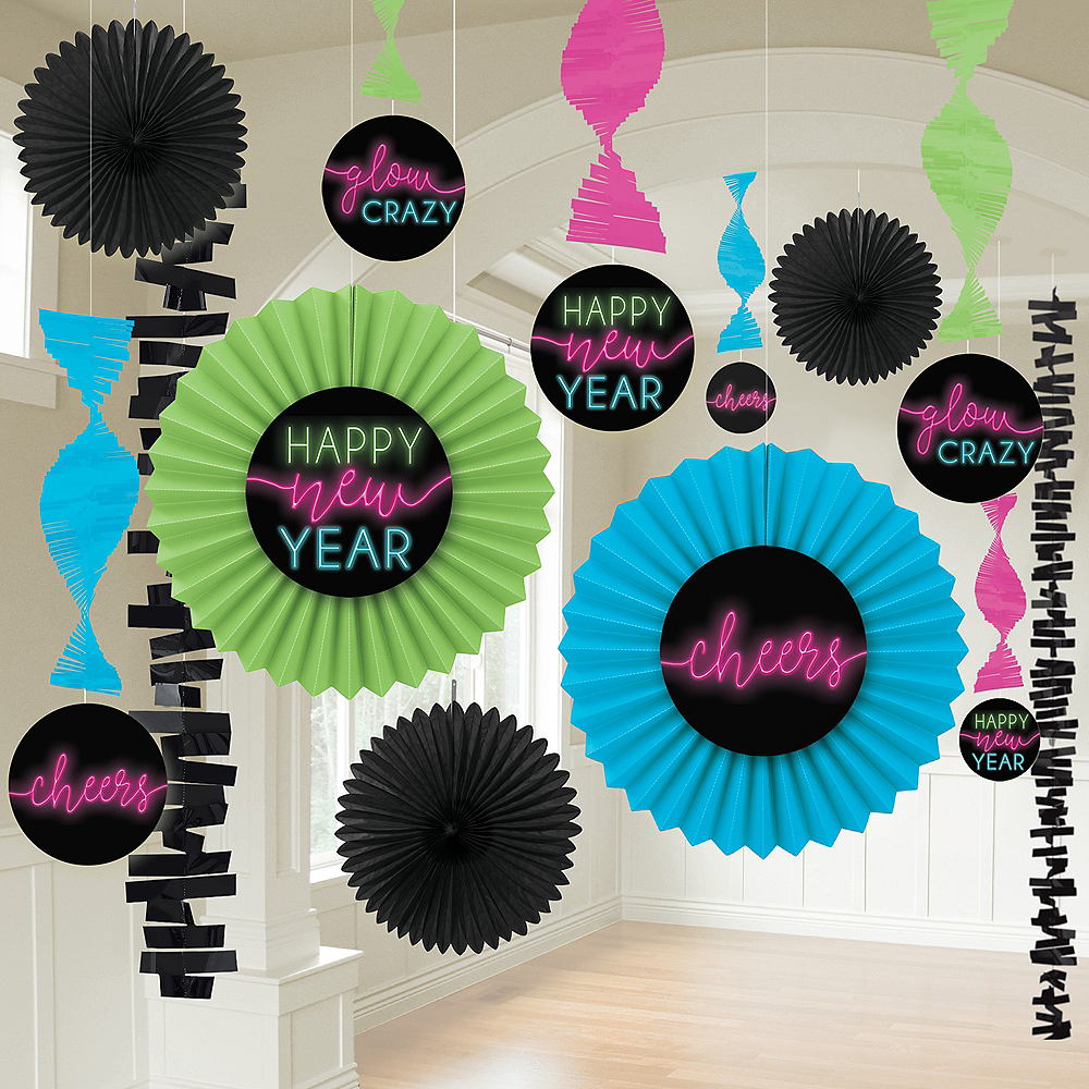 New Year's Glow Room Decorating Kit 13pc Image #1