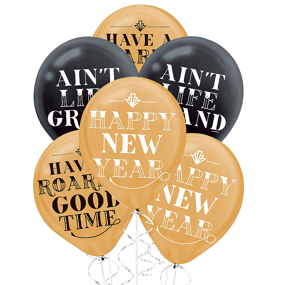 Roaring 20s Balloons 6ct Image #1