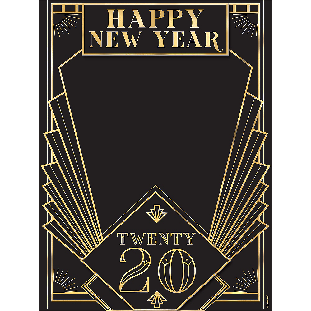 Roaring 20s Chalkboard Easel Sign Image #1