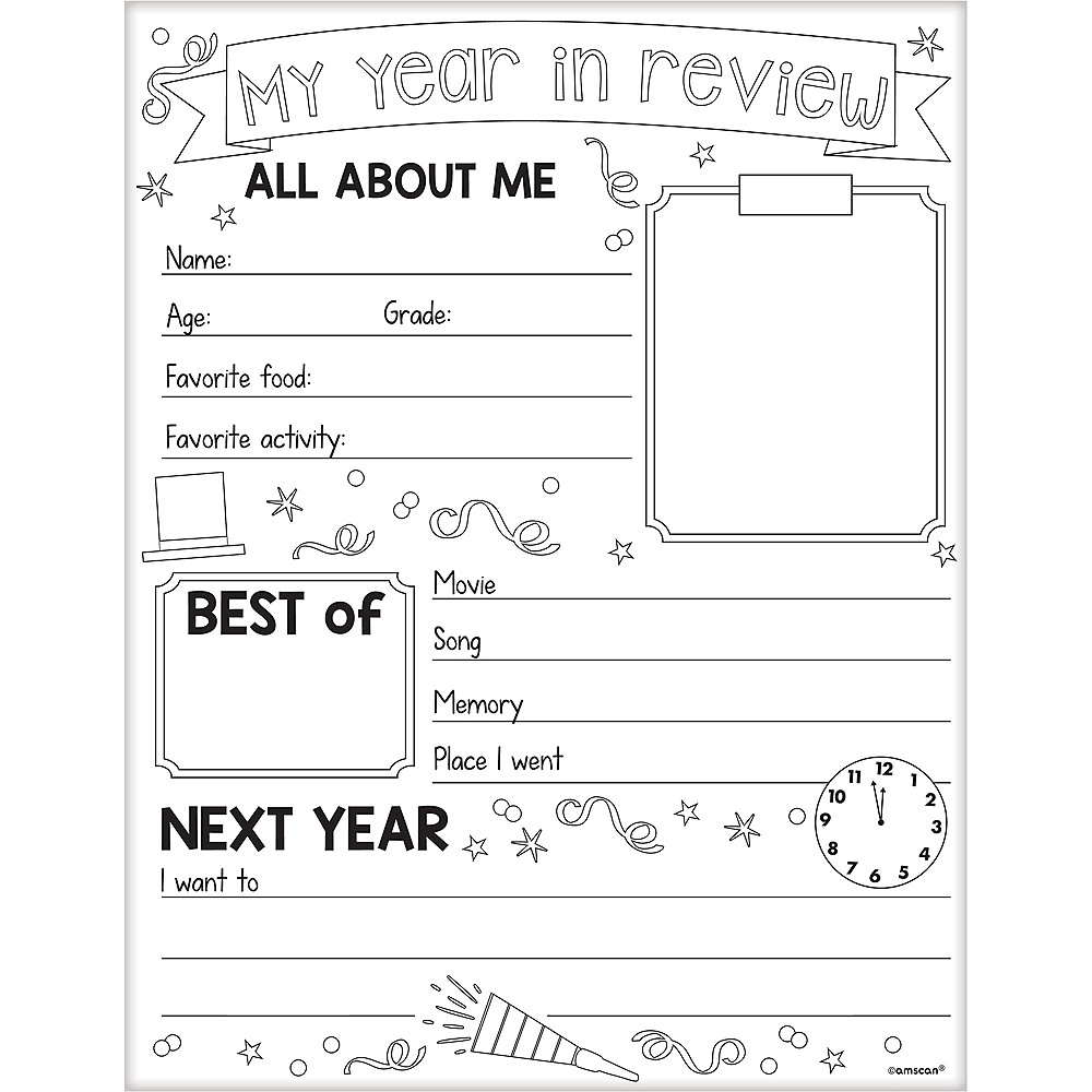 New Year's Activity Sheets 30ct Image #1