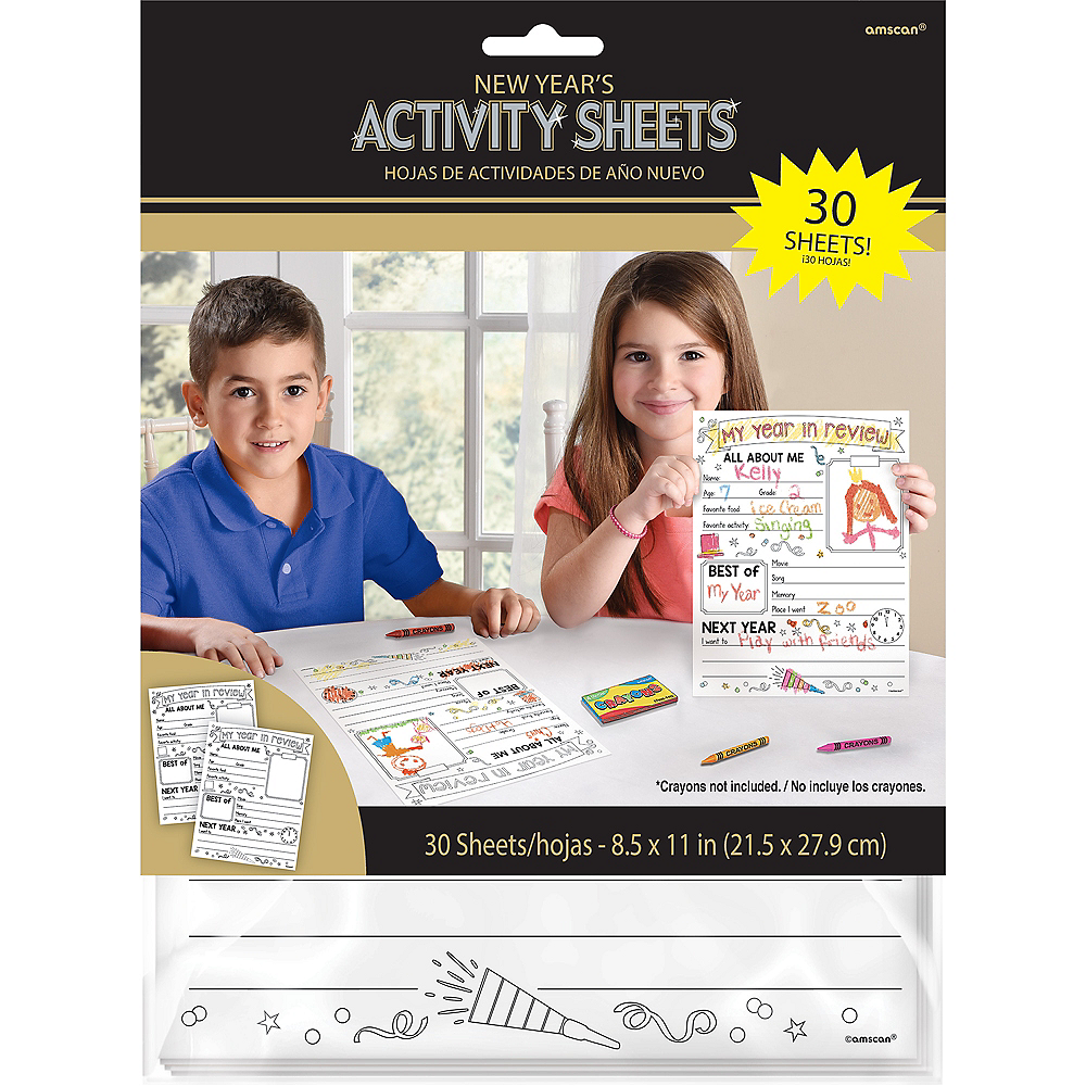 New Year's Activity Sheets 30ct Image #2