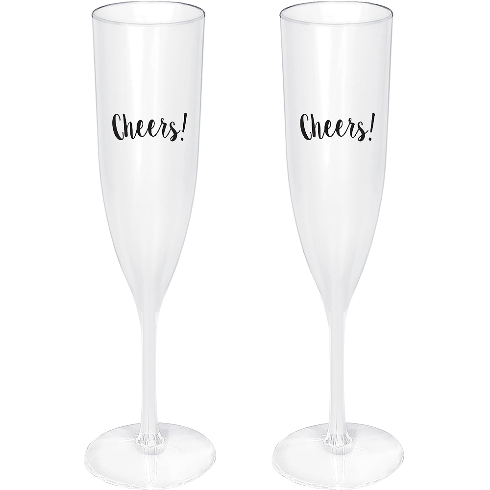 Cheers Champagne Flutes 2ct Image #1