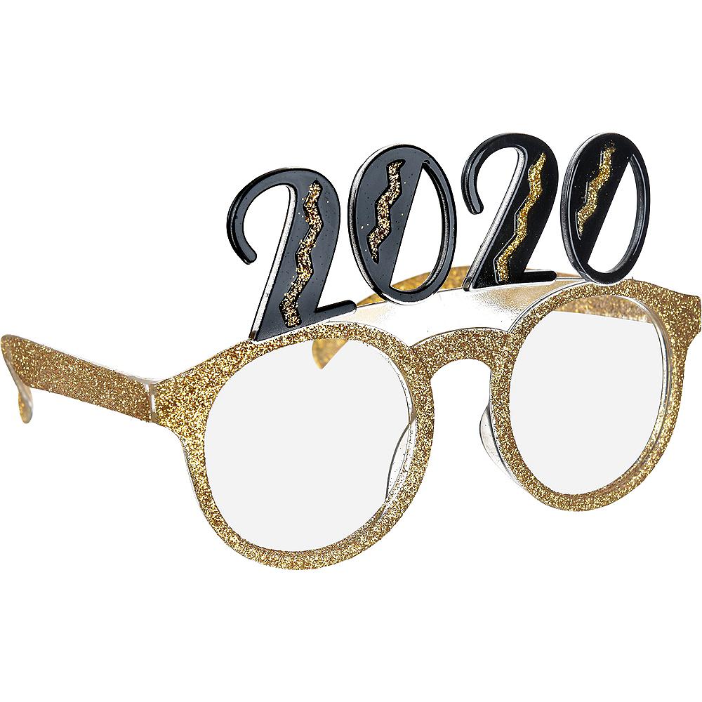 Black & Gold Glitter Glasses Image #2