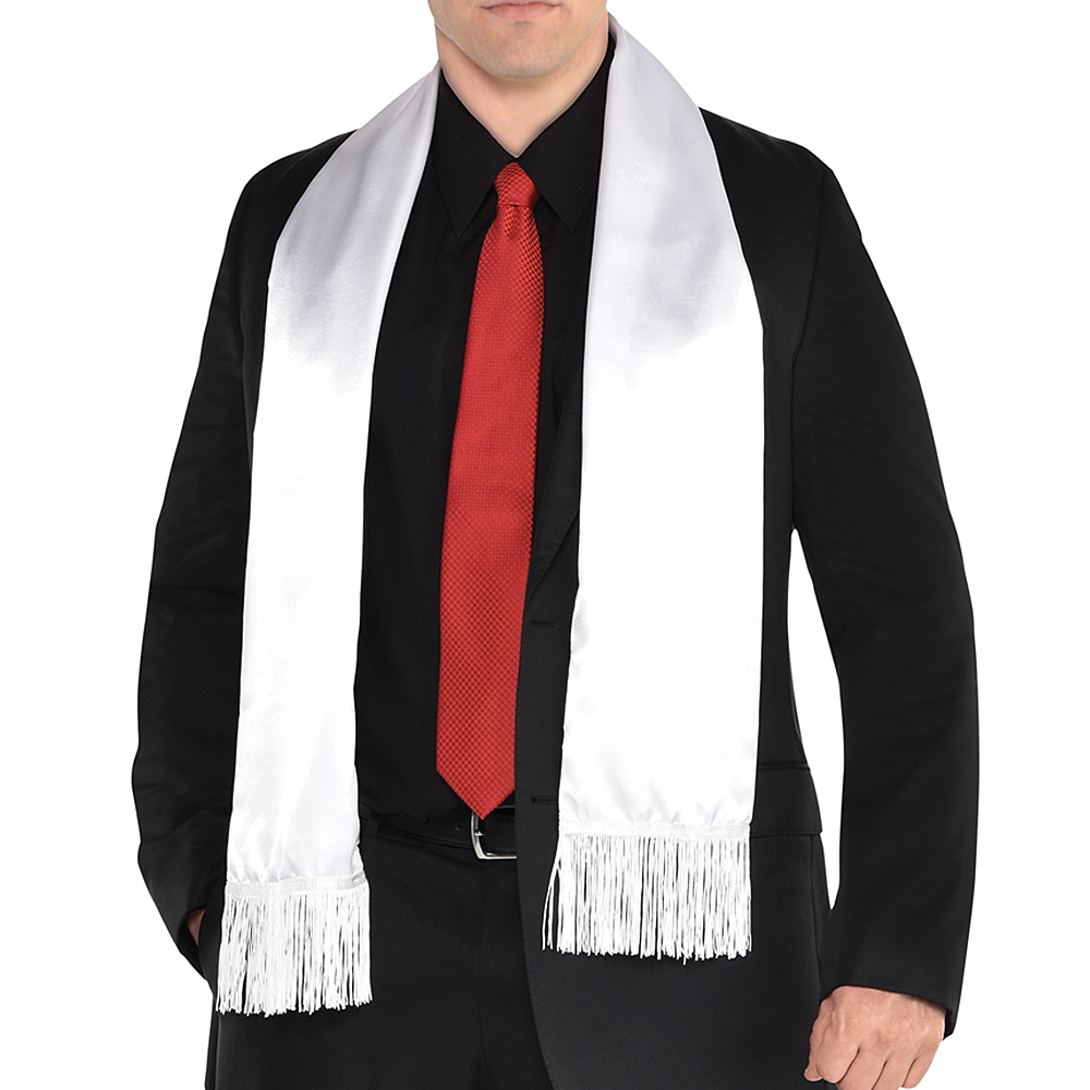 White Gangster Scarf Image #1