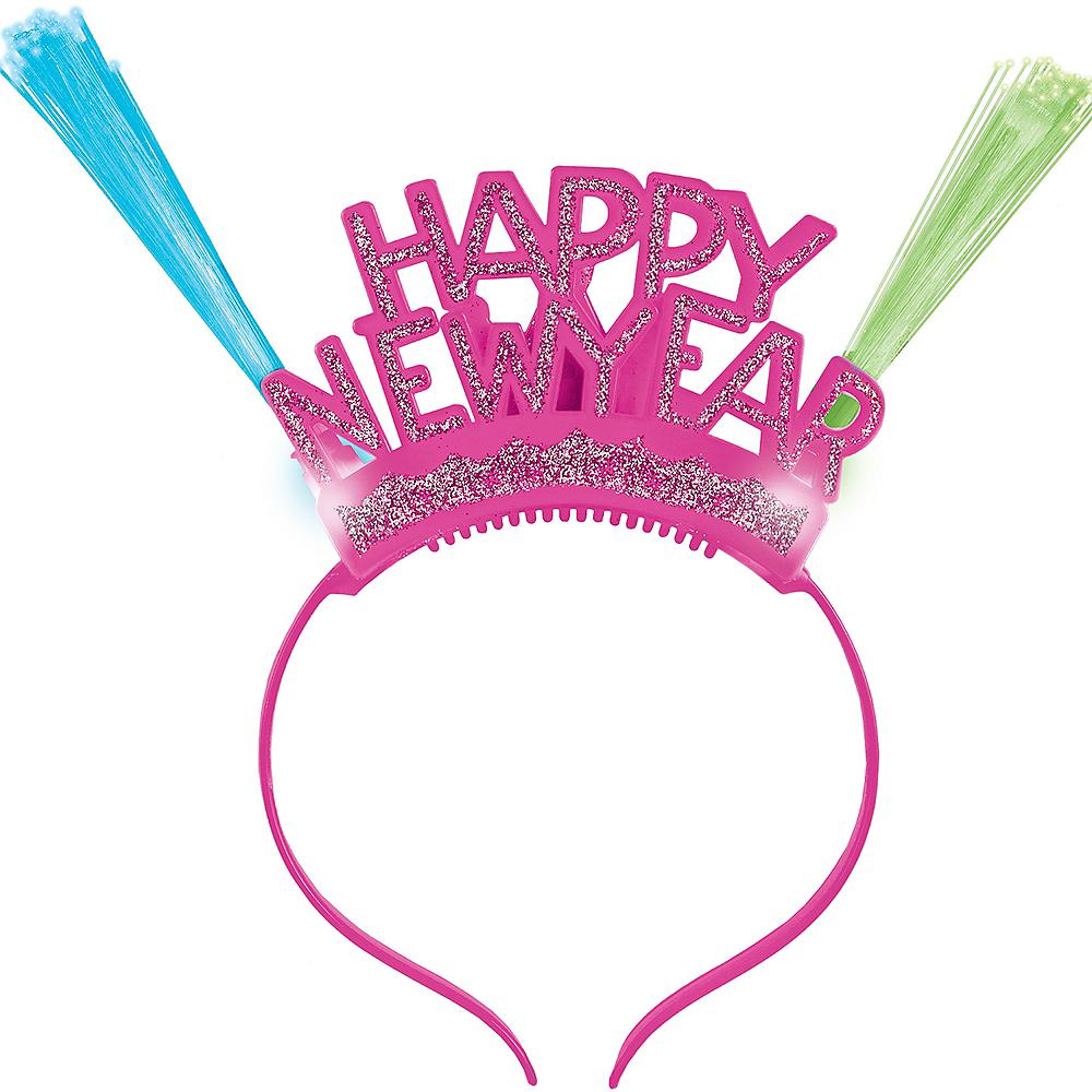 Light-Up Neon Happy New Year Headband Image #1