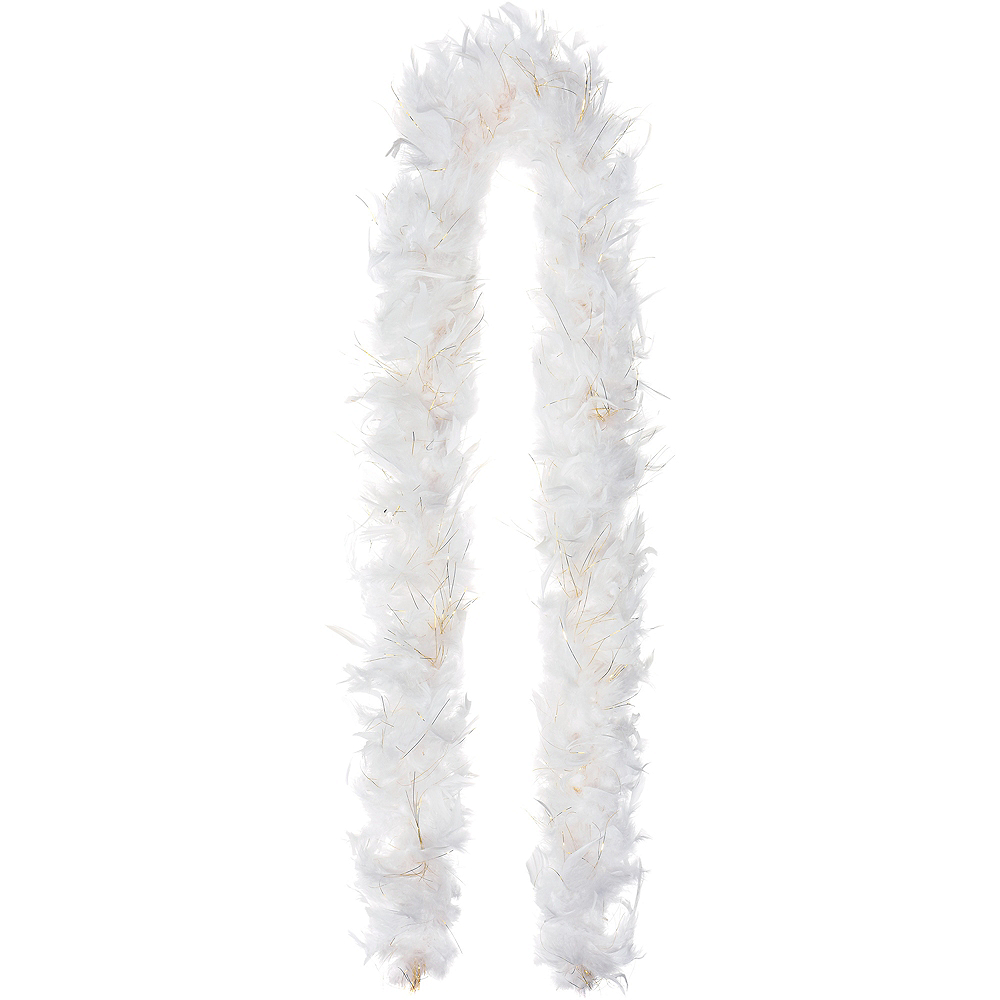White Feather & Tinsel Boa Image #1