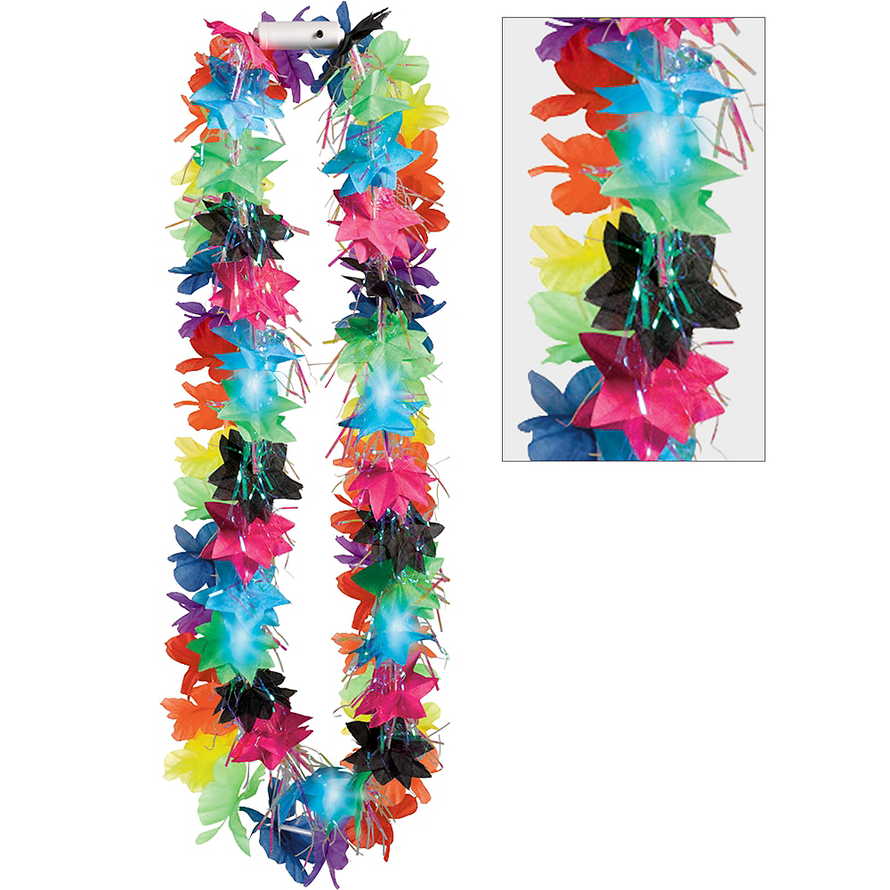 Light-Up Tinsel Lei Image #1