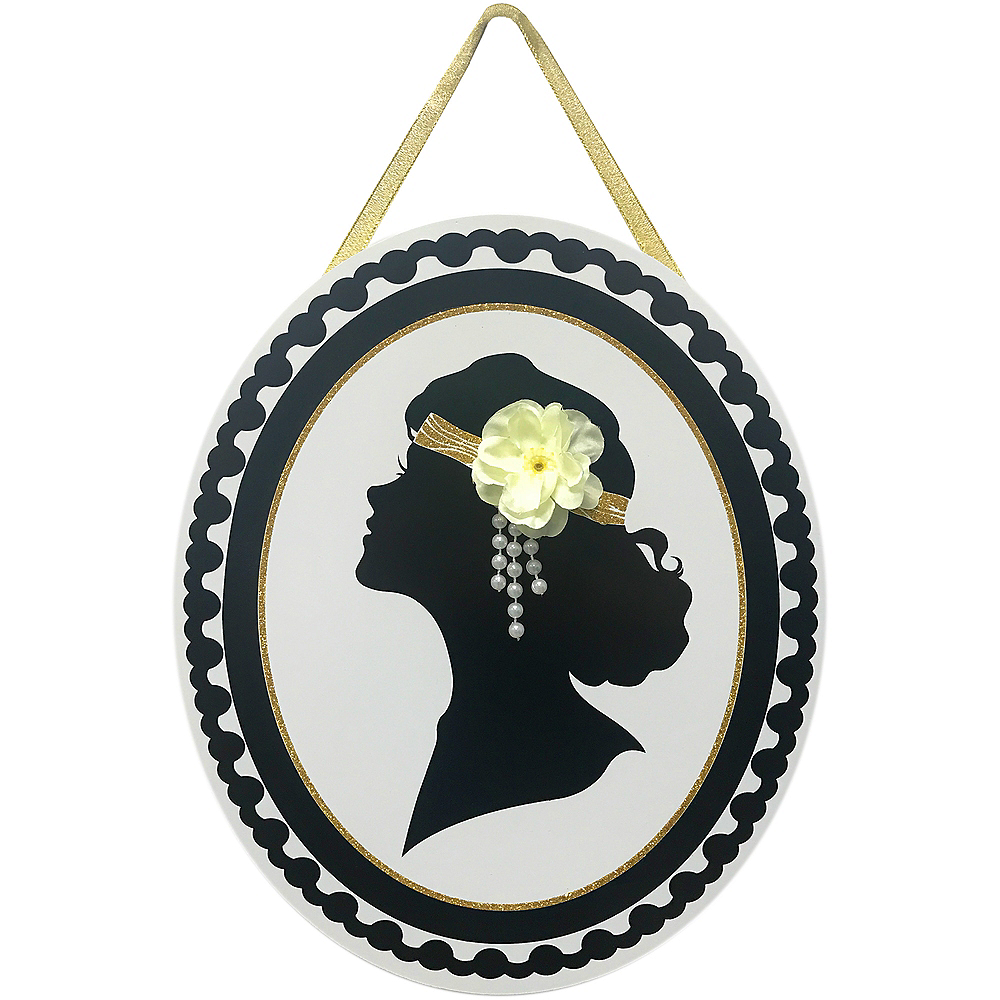 1920s Lady Hanging Sign Image #1