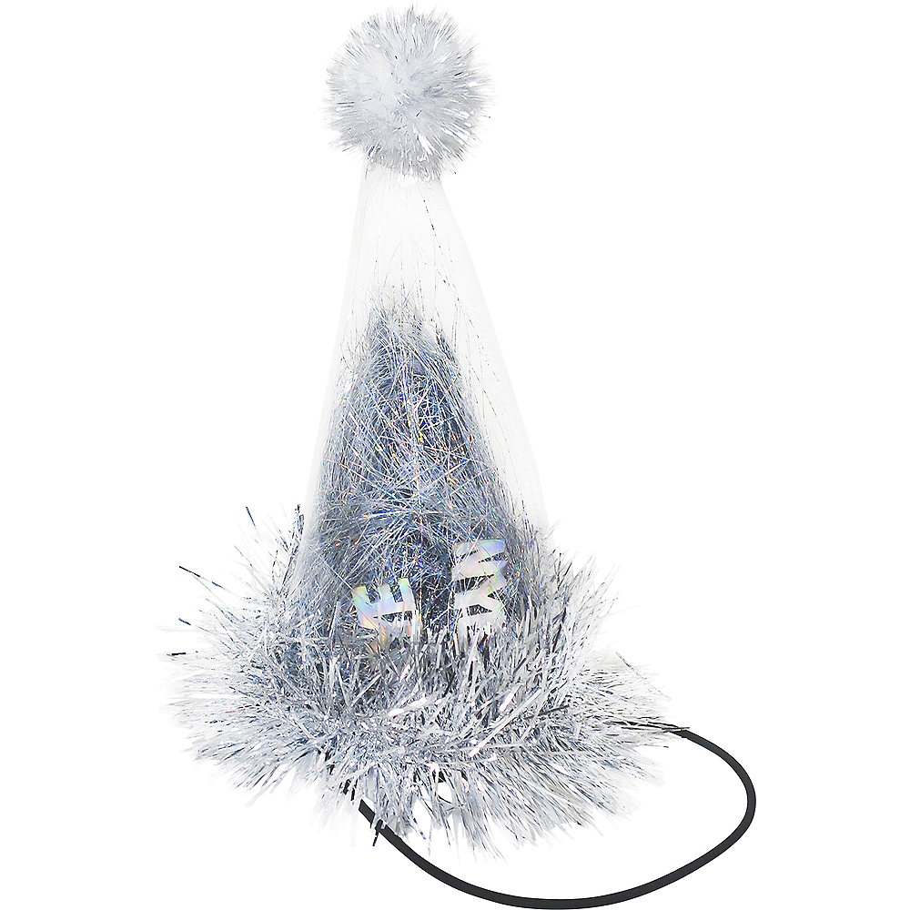 New Year's Eve Tinsel Party Hat Image #1