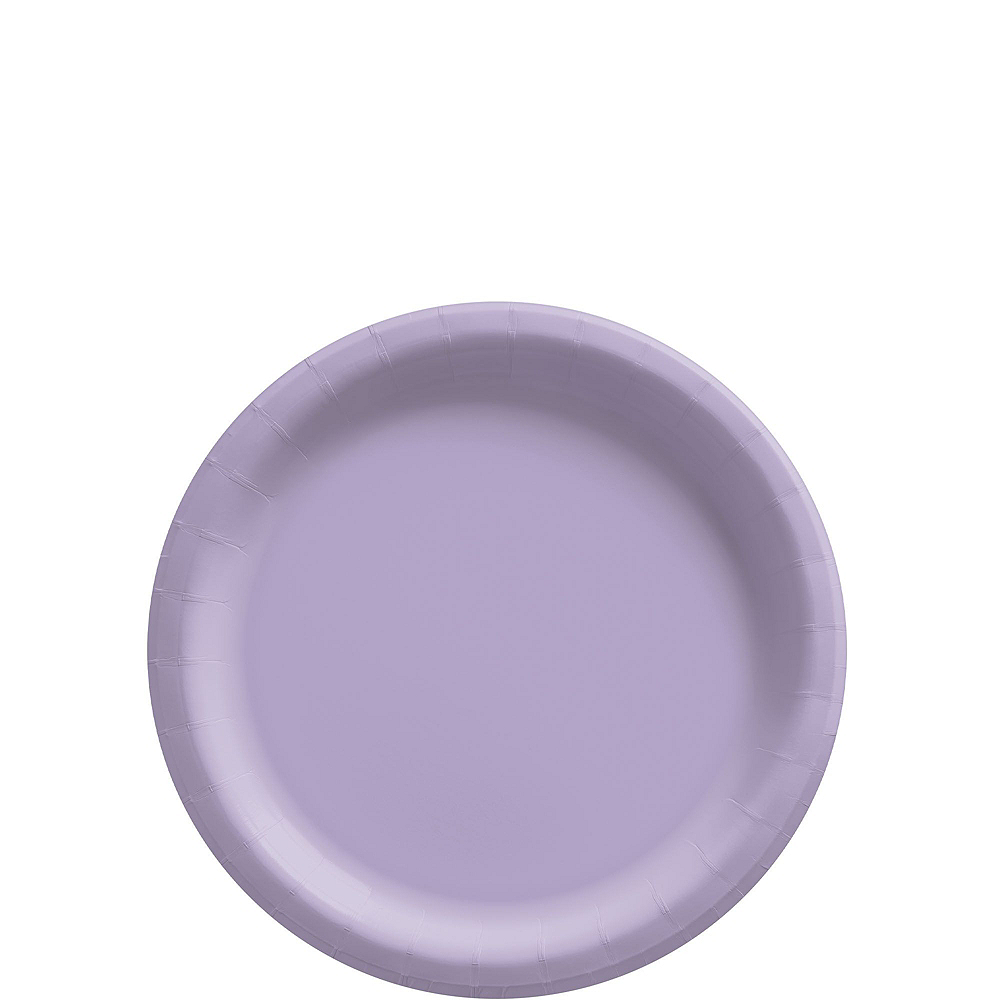 Lavender Paper Tableware Kit for 50 Guests Image #2