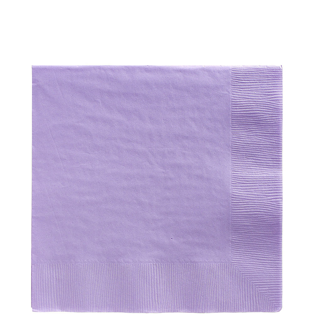 Lavender Paper Tableware Kit for 50 Guests Image #4