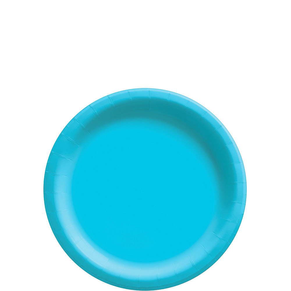 Caribbean Blue Paper Tableware Kit for 50 Guests Image #2