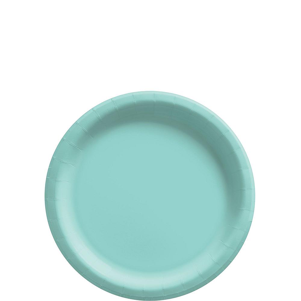 Robin's Egg Blue Paper Tableware Kit for 50 Guests Image #2