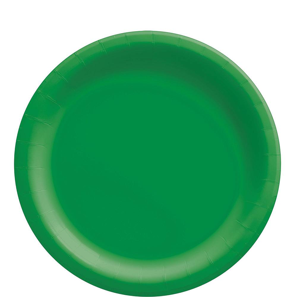 Festive Green Paper Tableware Kit for 50 Guests Image #3