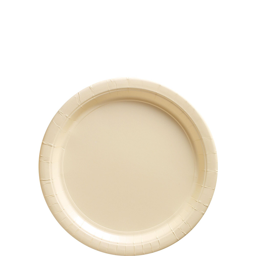 Vanilla Cream Paper Tableware Kit for 50 Guests Image #2