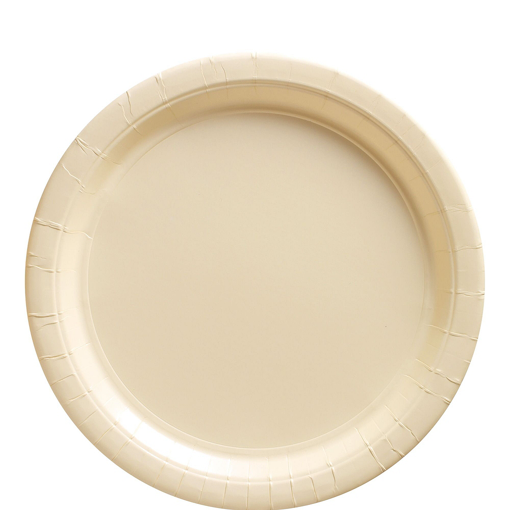 Vanilla Cream Paper Tableware Kit for 50 Guests Image #3