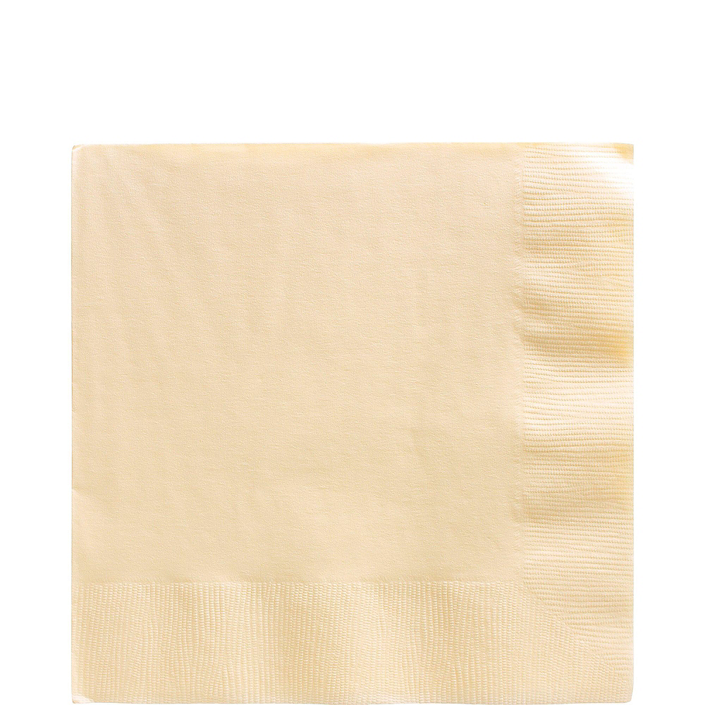 Vanilla Cream Paper Tableware Kit for 50 Guests Image #4