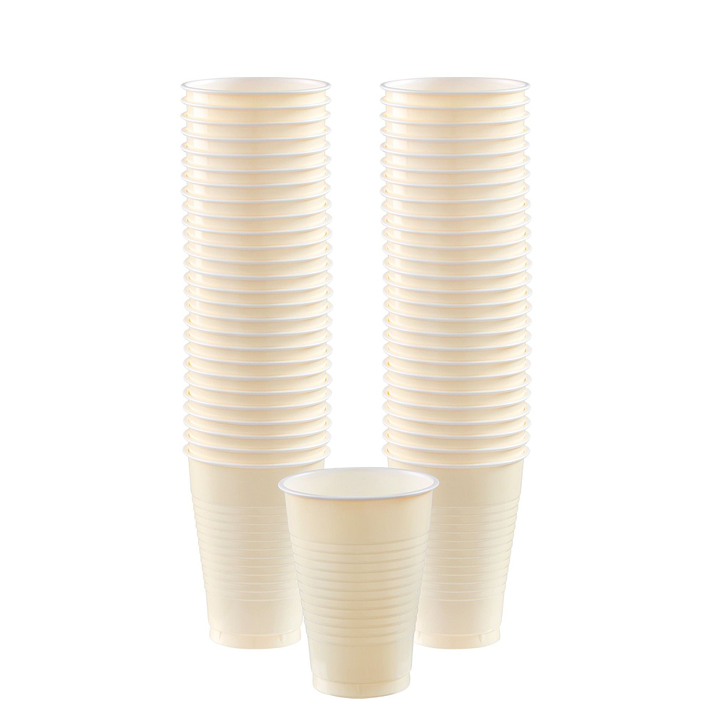 Vanilla Cream Paper Tableware Kit for 50 Guests Image #5