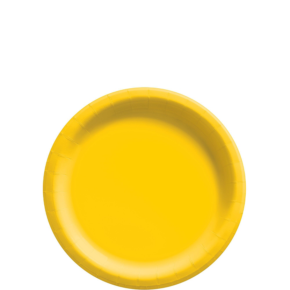 Sunshine Yellow Paper Tableware Kit for 50 Guests Image #2