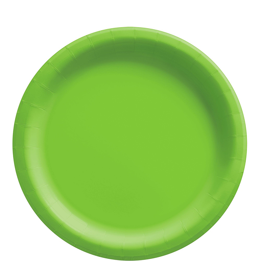 Kiwi Green Paper Tableware Kit for 50 Guests Image #3