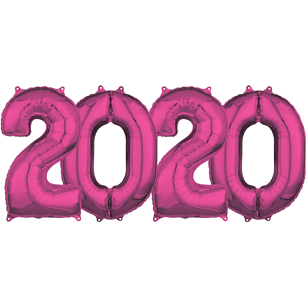 26in Pink 2020 Number Balloon Kit | Party City