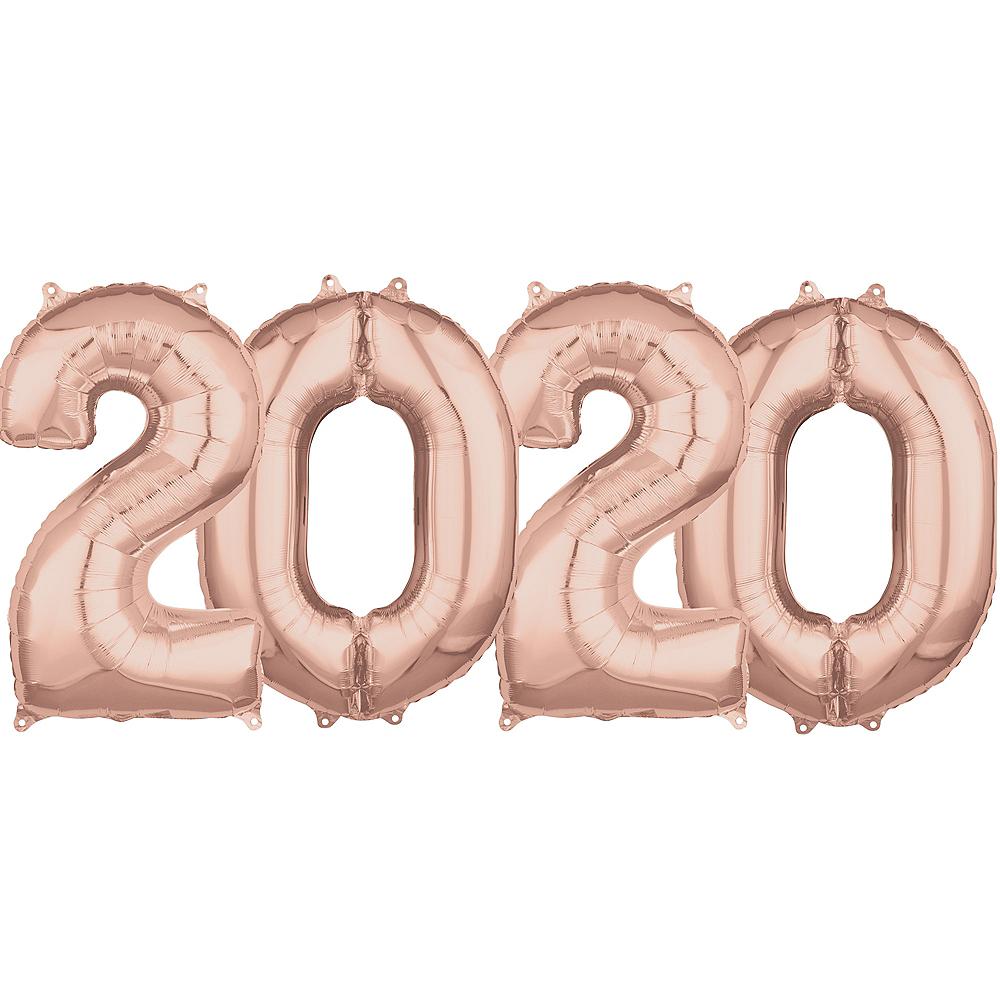 26in Rose Gold 2020 Number Balloon Kit Image #1