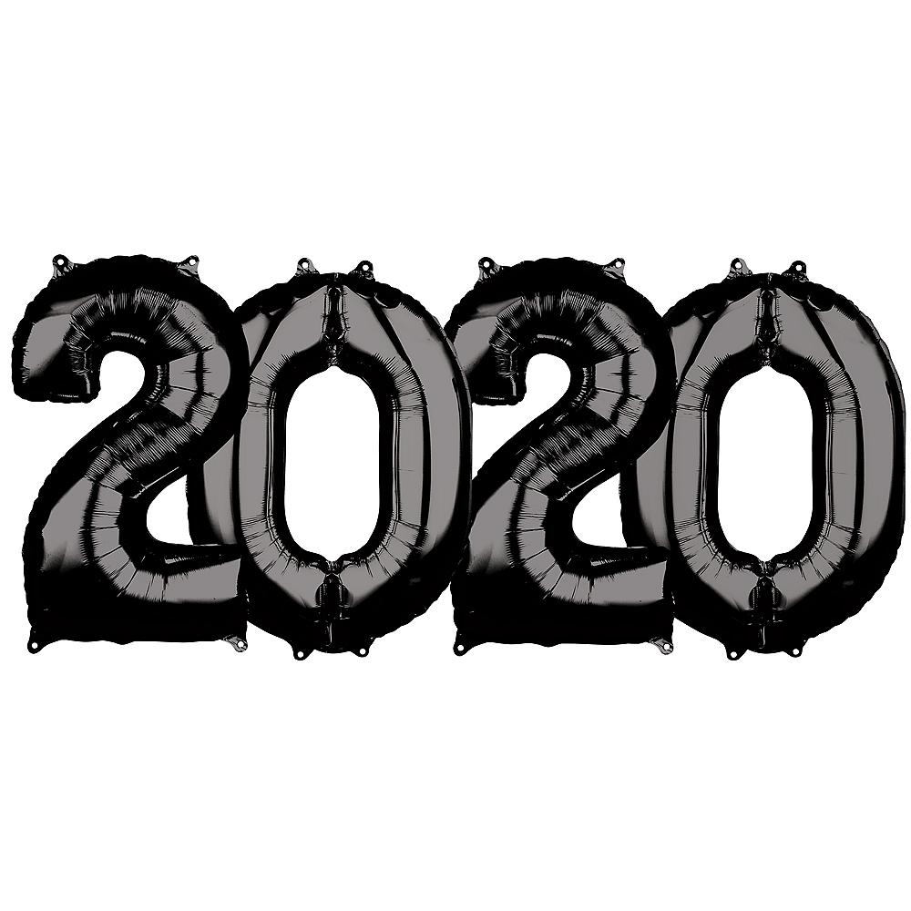 26in Black 2020 Number Balloon Kit Image #1