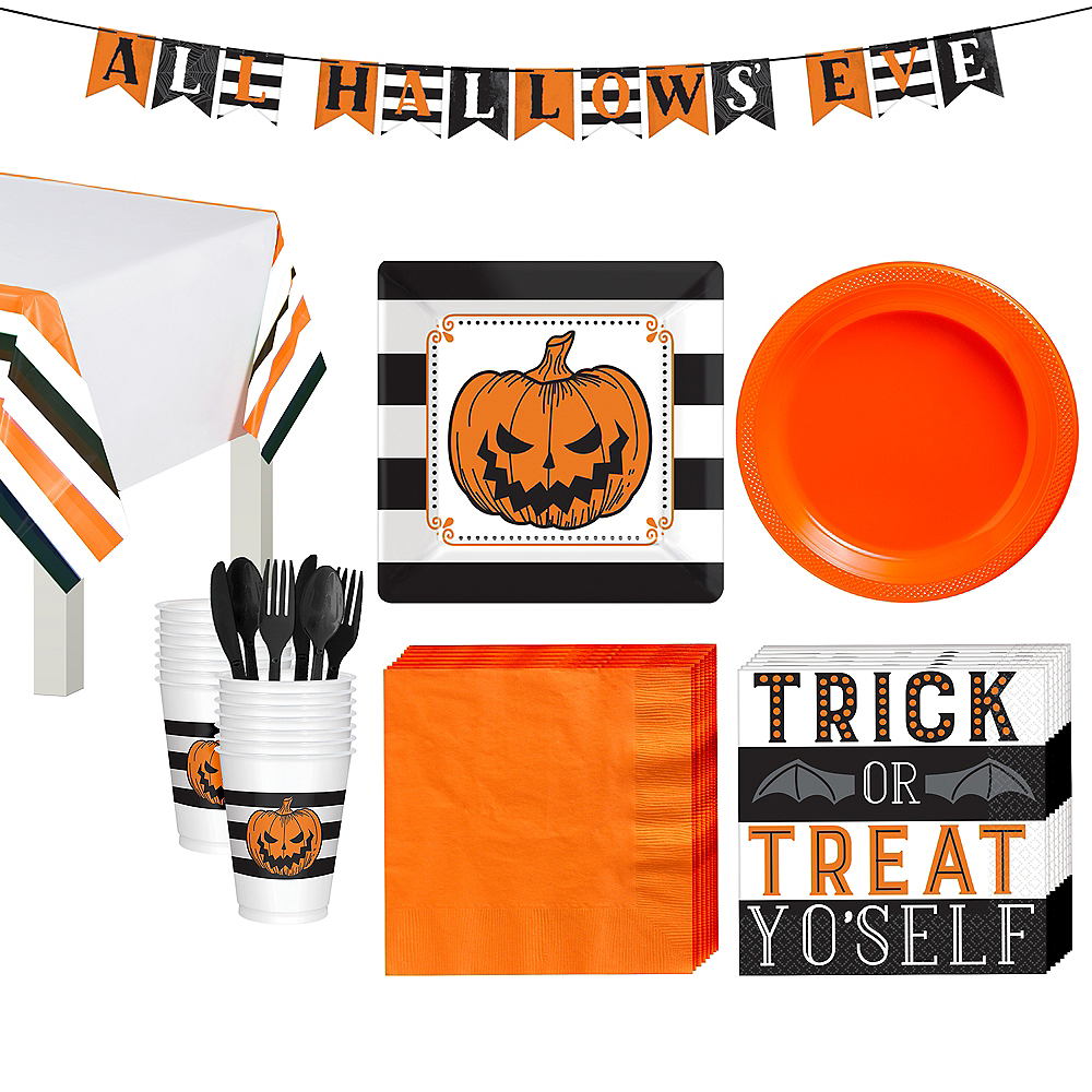 Hallows' Eve Tableware Kit for 18 Guests Image #1