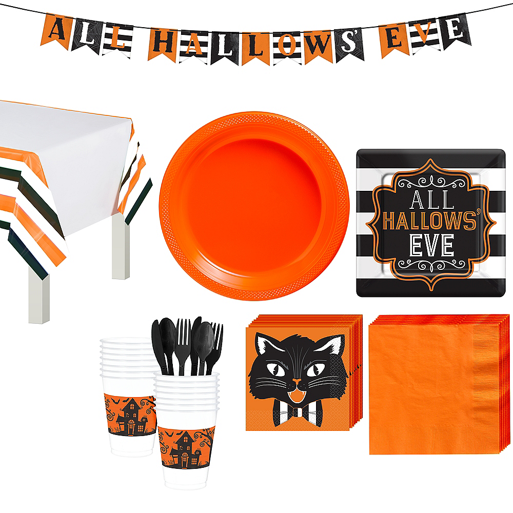 Hallows' Eve Dessert Tableware Kit for 18 Guests Image #1