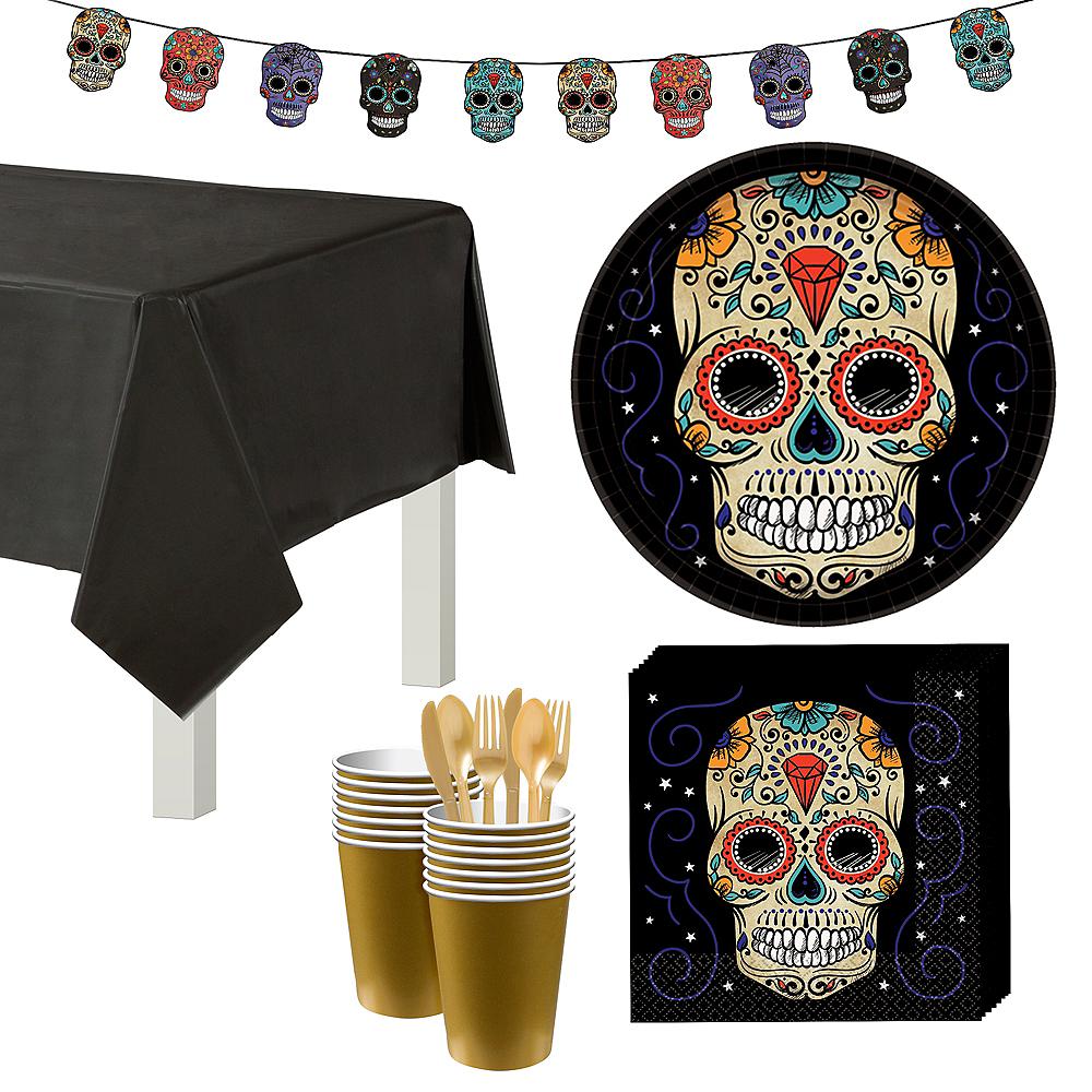 Sugar Skull Tableware Kit for 18 Guests Image #1