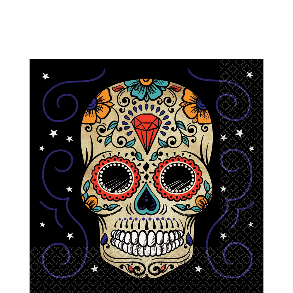 Sugar Skull Tableware Kit for 18 Guests Image #3