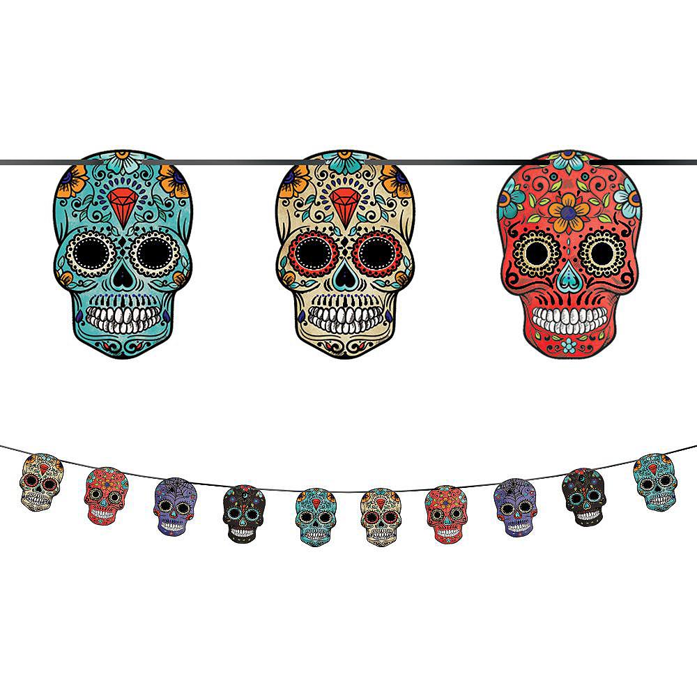 Sugar Skull Tableware Kit for 18 Guests Image #7