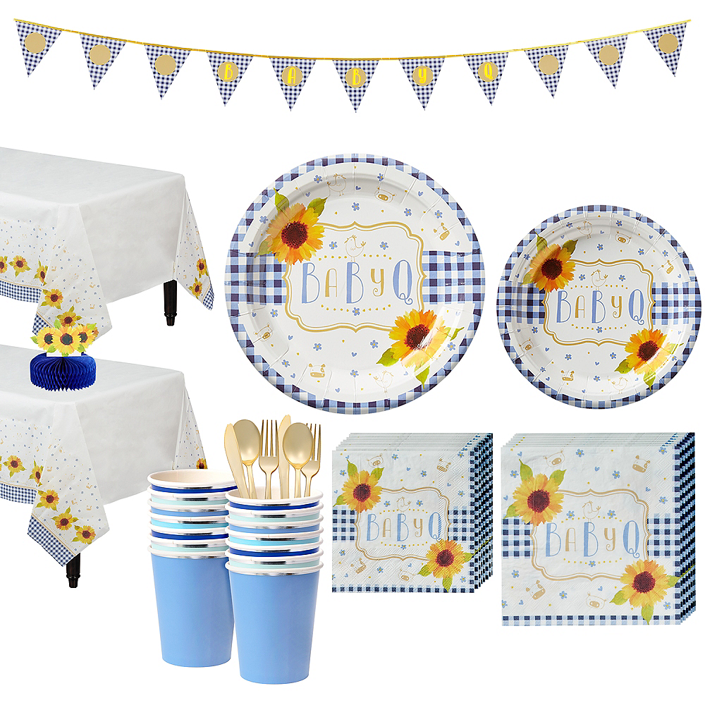 Nav Item for Baby Q Baby Shower Tableware Kit for 16 Guests Image #1