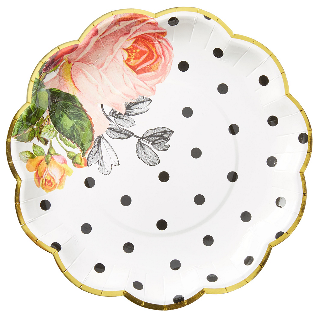 Pop Blush Rose Bridal Shower Tableware Kit for 100 Guests Image #3