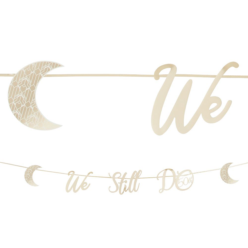 Gold 50th Wedding Anniversary Buffet Table Decorating Kit Image #4