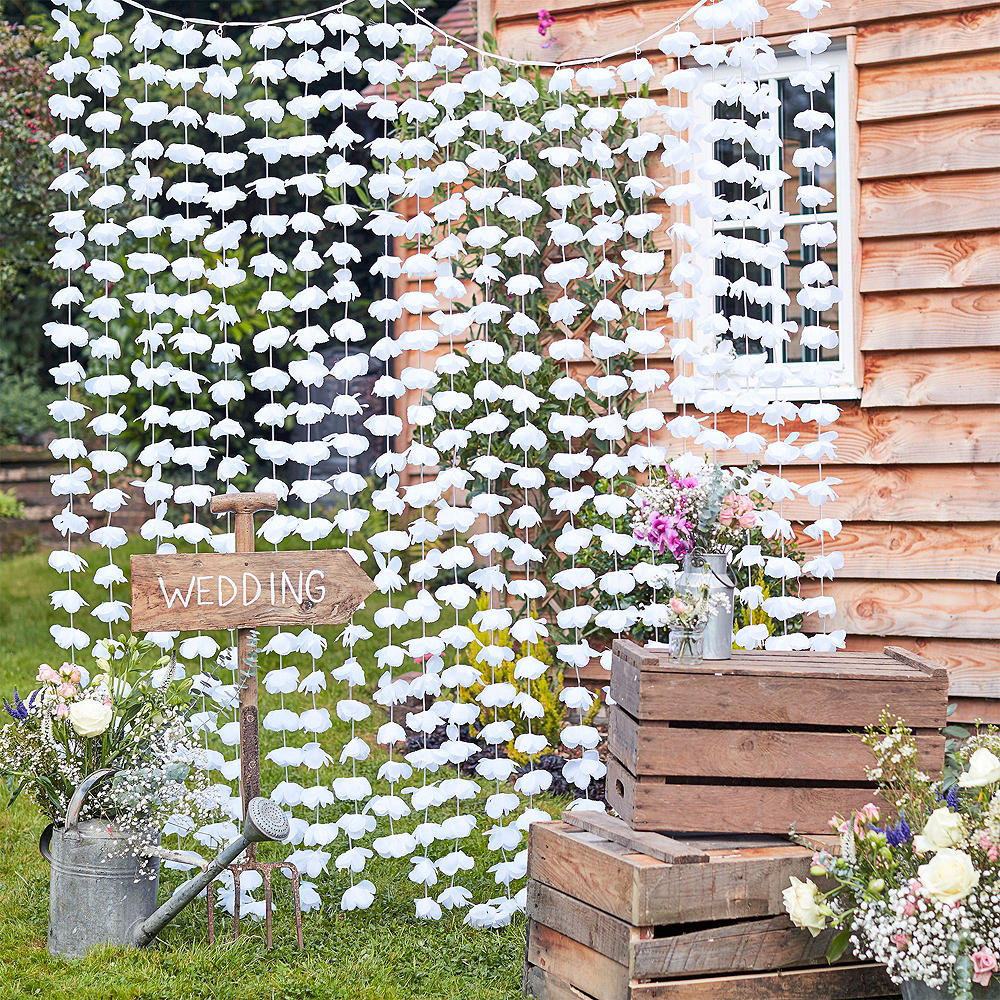 Ruby 40th Wedding Anniversary Photo Booth Backdrop Kit Image #7