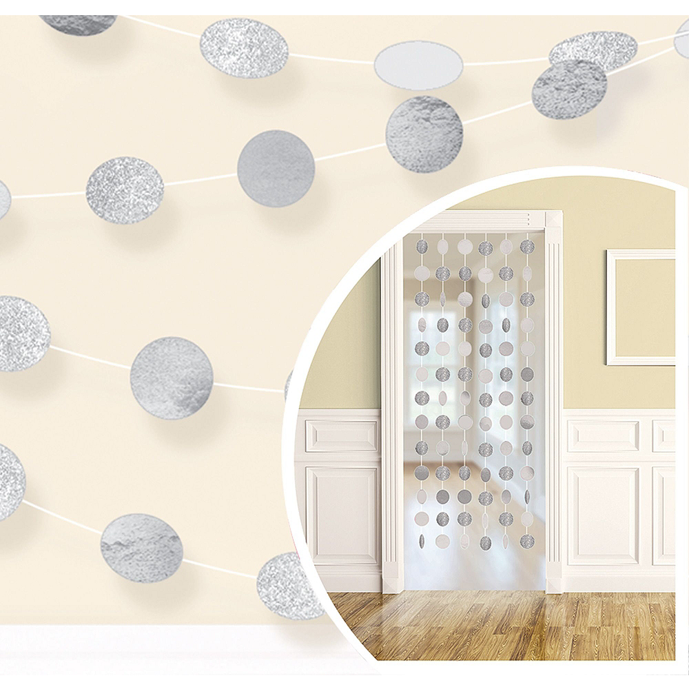 Silver 25th Wedding Anniversary Photo Booth Backdrop Kit Image #4
