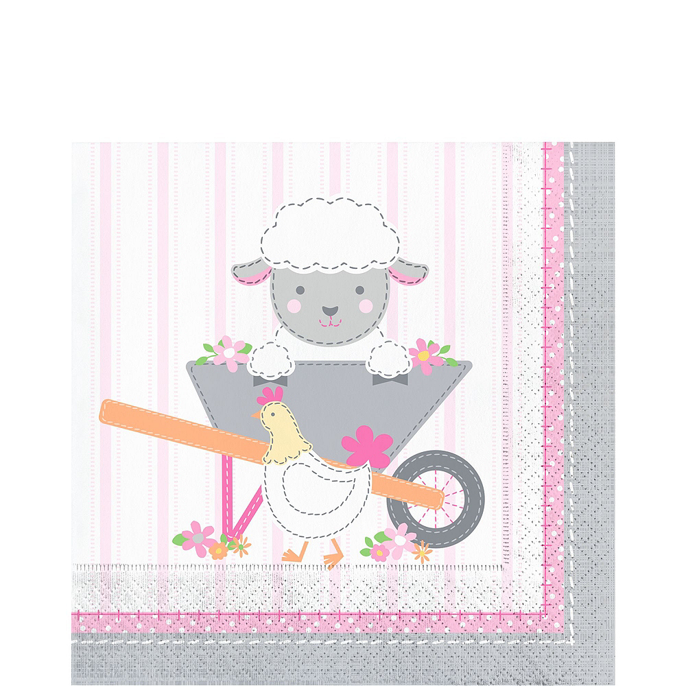 Super Pink Farmhouse 1st Birthday Party Kit for 32 Guests Image #5