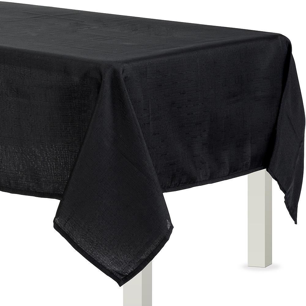 Black Fabric Tablecloth Image #1