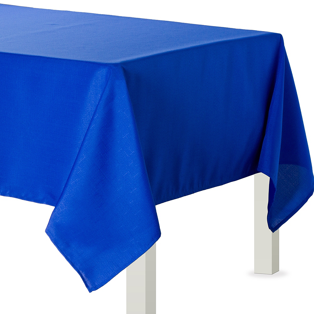 Royal Blue Fabric Tablecloth Image #1