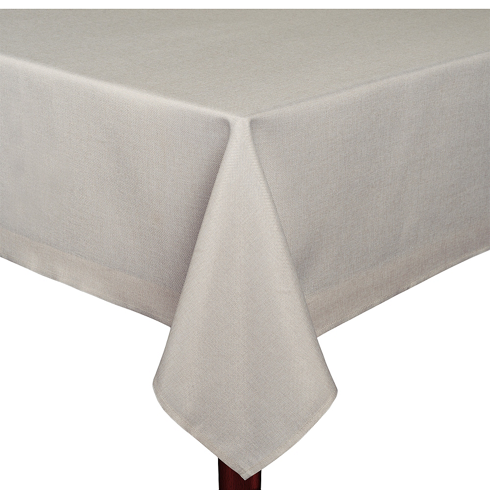 Silver Heathered Fabric Tablecloth Image #1