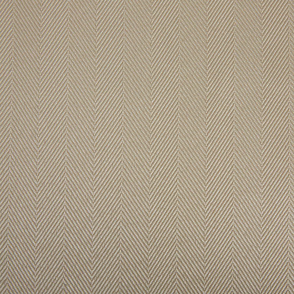 Cream Herringbone Weave Fabric Round Tablecloth Image #2