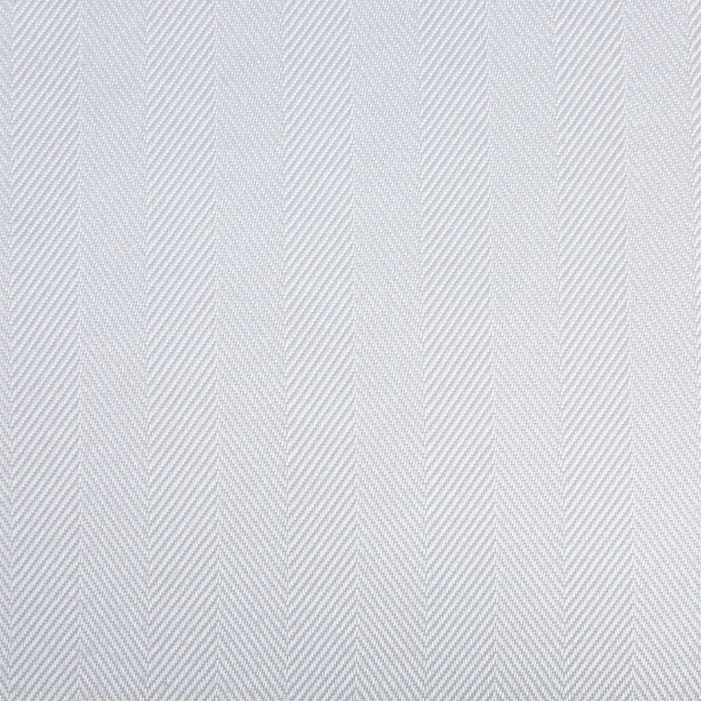 White Herringbone Weave Fabric Round Tablecloth Image #2
