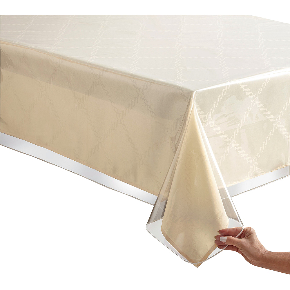 Durable Clear Vinyl Table Cover Image #1