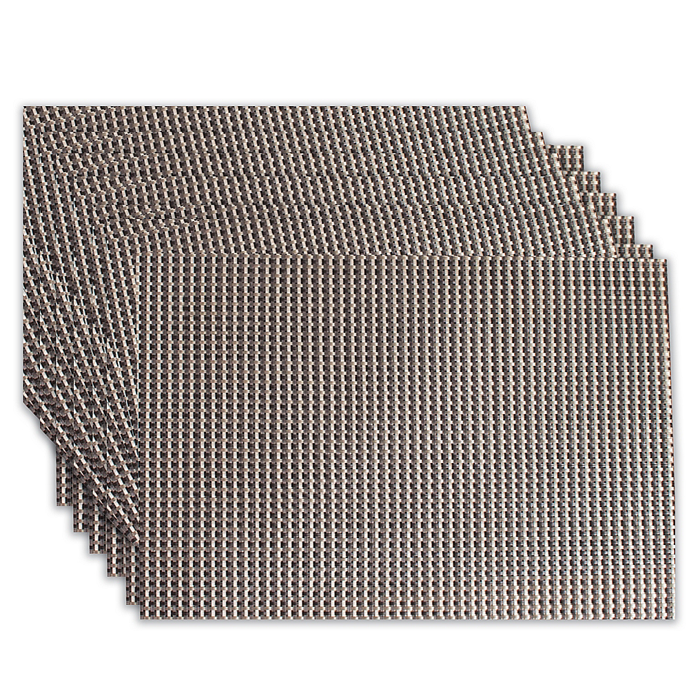 Nickel Woven Vinyl Placemats 6ct Image #1