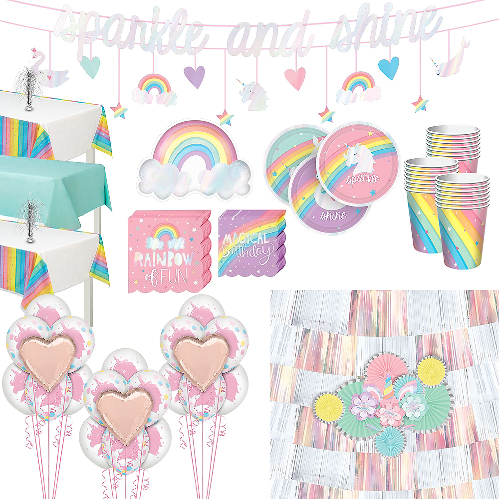 Super Magical Rainbow Party Kit for 24 Guests Image #1