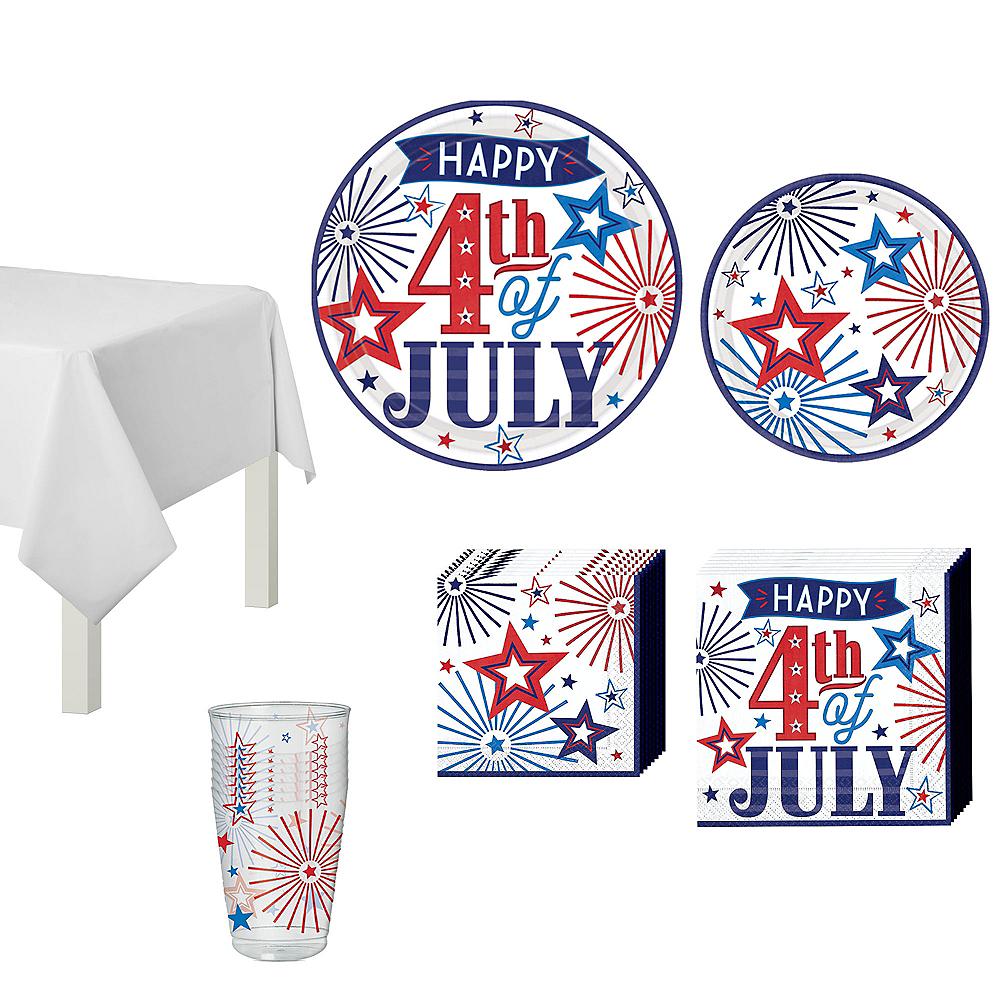 Happy 4th of July Tableware Kit 18 Guests Image #1